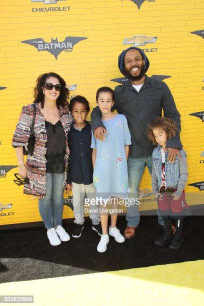 Musician Ziggy Marley and family attend the Premiere of Warner Bros Pictures' The LEGO Batman Movie at the Regency Village Theatre on February 4 2017...