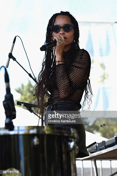 Musician Zoe Kravitz of Lolawolf performs on stage during 2015 Budweiser Made in America festival at Benjamin Franklin Parkway on September 6 2015 in...