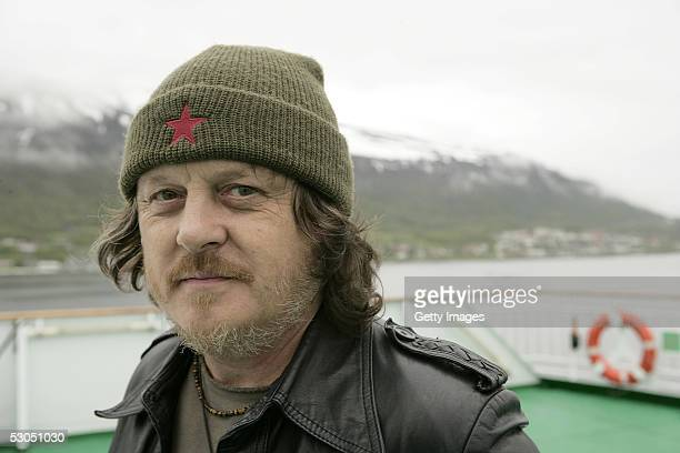 Musician Zucchero attends at a photocall ahead of June 11 2005 46664 Arctic concert on the ship MS Kong Harald on June 10 2005 in Tromso Norway The...