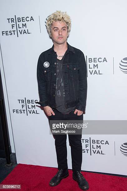 Musician/Actor Billie Joe Armstrong attends the 'Geezer' Premiere at the 2016 Tribeca Film Festival at Spring Studios on April 23 2016 in New York...