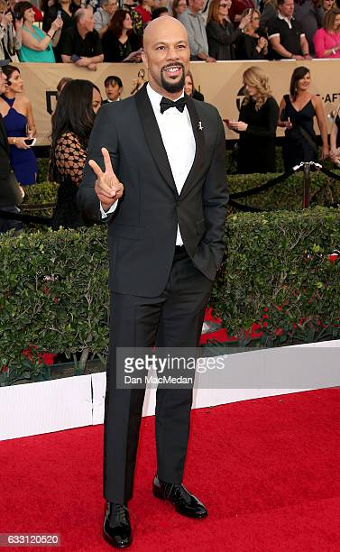 Musician/actor Common arrives at the 23rd Annual Screen Actors Guild Awards at The Shrine Expo Hall on January 29 2017 in Los Angeles California