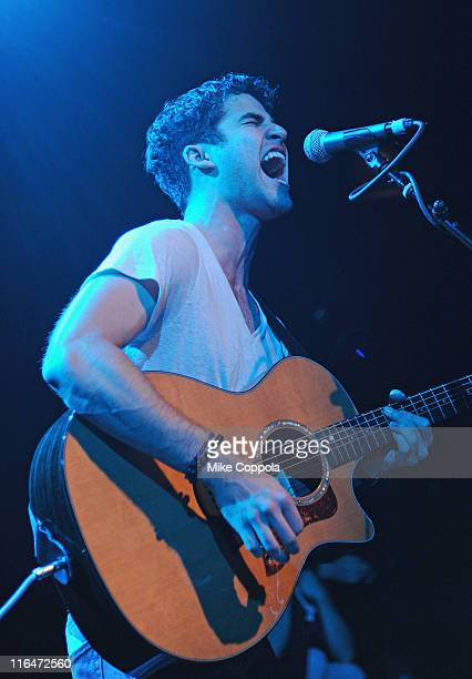 Musician/actor Darren Criss performs at Irving Plaza on June 15 2011 in New York City