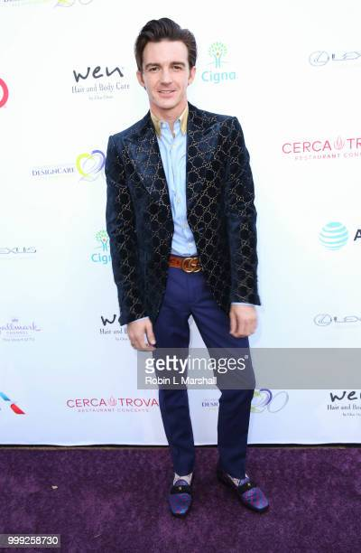Musician/Actor Drake Bell attends The HollyRod Foundation's 20th Annual DesignCare Gala at Private Residence on July 14 2018 in Malibu California
