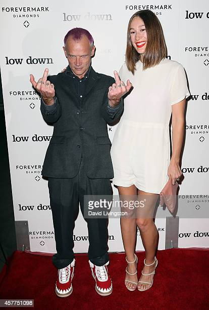 Musician/actor Flea and Sandha Khin attend the premiere of Oscilloscope Laboratories' Lowdown at ArcLight Hollywood on October 23 2014 in Hollywood...
