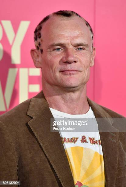 """Musician/actor Flea arrives at the Premiere of Sony Pictures' """"Baby Driver"""" at Ace Hotel on June 14, 2017 in Los Angeles, California."""