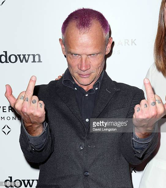 Musician/actor Flea attends the premiere of Oscilloscope Laboratories' 'Lowdown' at ArcLight Hollywood on October 23 2014 in Hollywood California