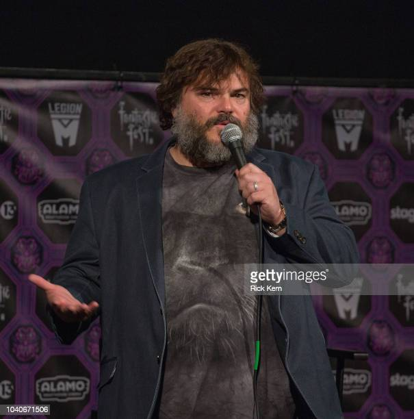 Musician/actor Jack Black of Tenacious D introduces the Texas premiere of 'Tenacious D in Post Apocalypto' during Fantastic Fest at the Alamo...