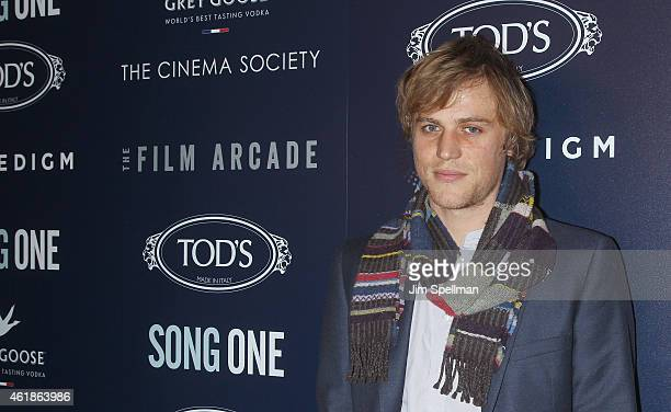 Musician/actor Johnny Flynn attends The Cinema Society Tod's host the premiere of the Film Arcade Cinedigm's 'Song One' at Landmark's Sunshine Cinema...