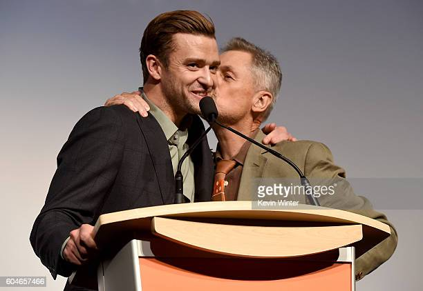 Musician/actor Justin Timberlake and director Jonathan Demme attend the 'Justin Timberlake The Tennessee Kids' premiere during the 2016 Toronto...