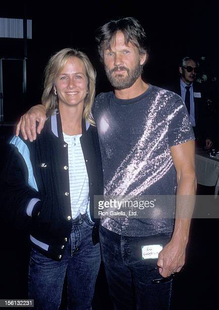 Musician/Actor Kris Kristofferson and wife Lisa Meyers attend the 'Coverup Behind the Iran Contra Affair' West Hollywood Premiere on June 24 1988 at...