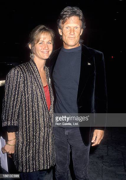 Musician/Actor Kris Kristofferson and wife Lisa Meyers attend the 'Crosby Stills Nash Young Fundraiser Party' on March 31 1990 at Santa Monica Beach...