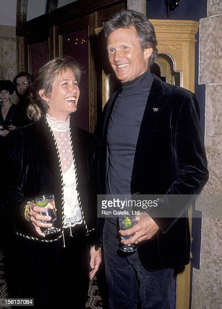 Musician/Actor Kris Kristofferson and wife Lisa Meyers attend the 'Chateau Lake Louise Centennial Celebrity Sports Invitational' on January 18 1990'...