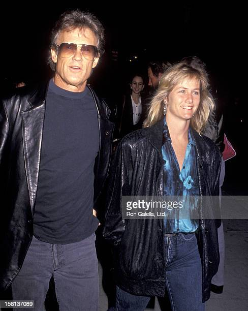 Musician/Actor Kris Kristofferson and wife Lisa Meyers attend the 'Brooklyn Laundry' Play Performance on May 3 1991 at Coronet Theatre in West...