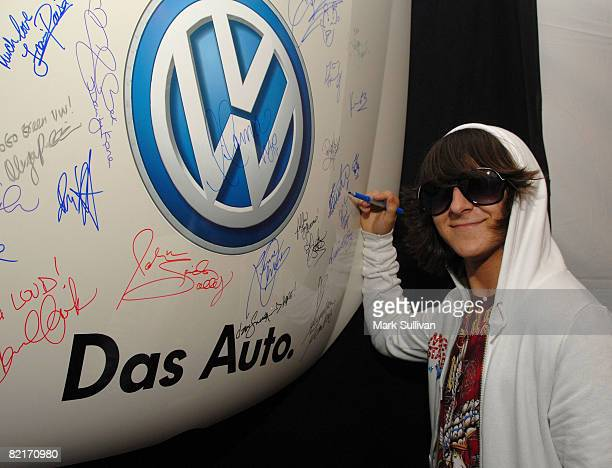 Musician/actor Mitchel Musso attends the Mattel Celebrity Retreat produced by Backstage Creations at Teen Choice 2008 on August 3 2008 in Universal...
