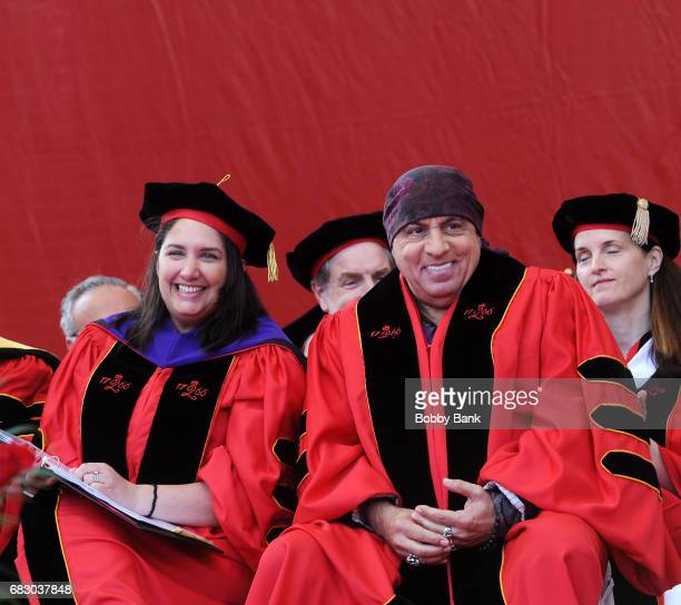 Musician,actor, producer and human rights activist Steven Van Zandt is presented the Honorary Doctor of Fine Arts at 2017 Rutgers University...