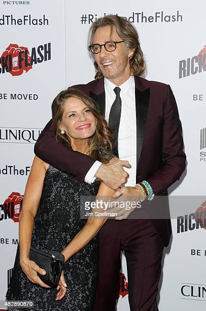 Musician/actor Rick Springfield and wife Barbara Porter attend the Ricki And The Flash New York premiere at AMC Lincoln Square Theater on August 3...