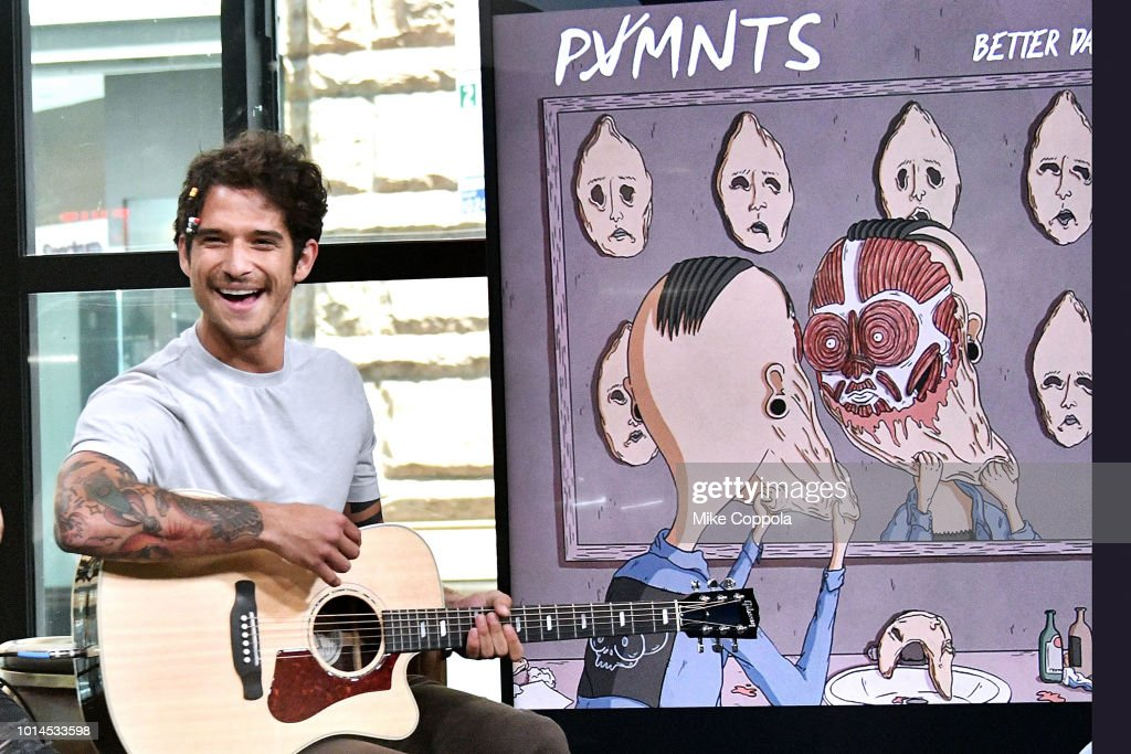 Musician/Actor Tyler Posey of the band PVMNTS performs at Build Studio on August 10, 2018 in New York City.