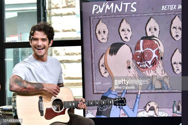 Musician/Actor Tyler Posey of the band PVMNTS performs at Build Studio on August 10 2018 in New York City