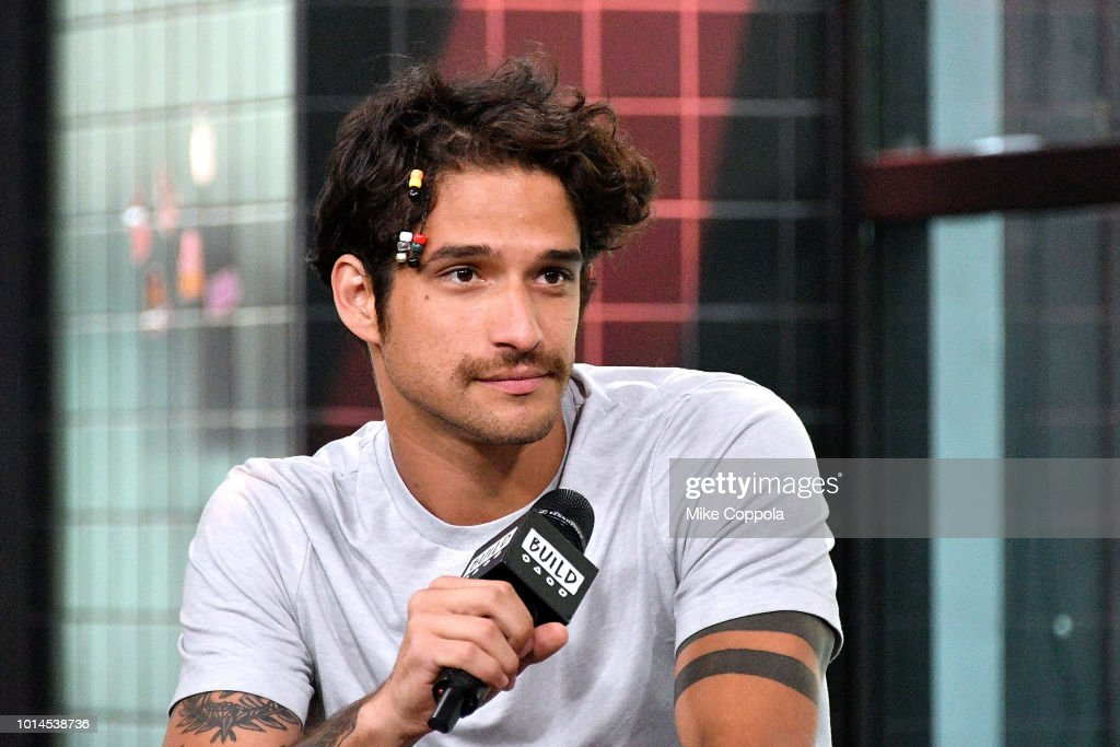 Musician/Actor Tyler Posey of the band PVMNTS visits Build Studio on August 10, 2018 in New York City.