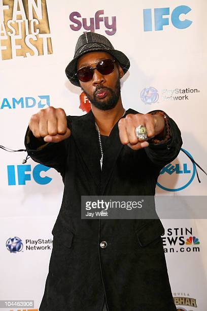 Musician/Actor/Producer RZA on the red carpet for a Yuen Woo Ping double feature during Fantastic Fest at Paramount Theater on September 25 2010 in...