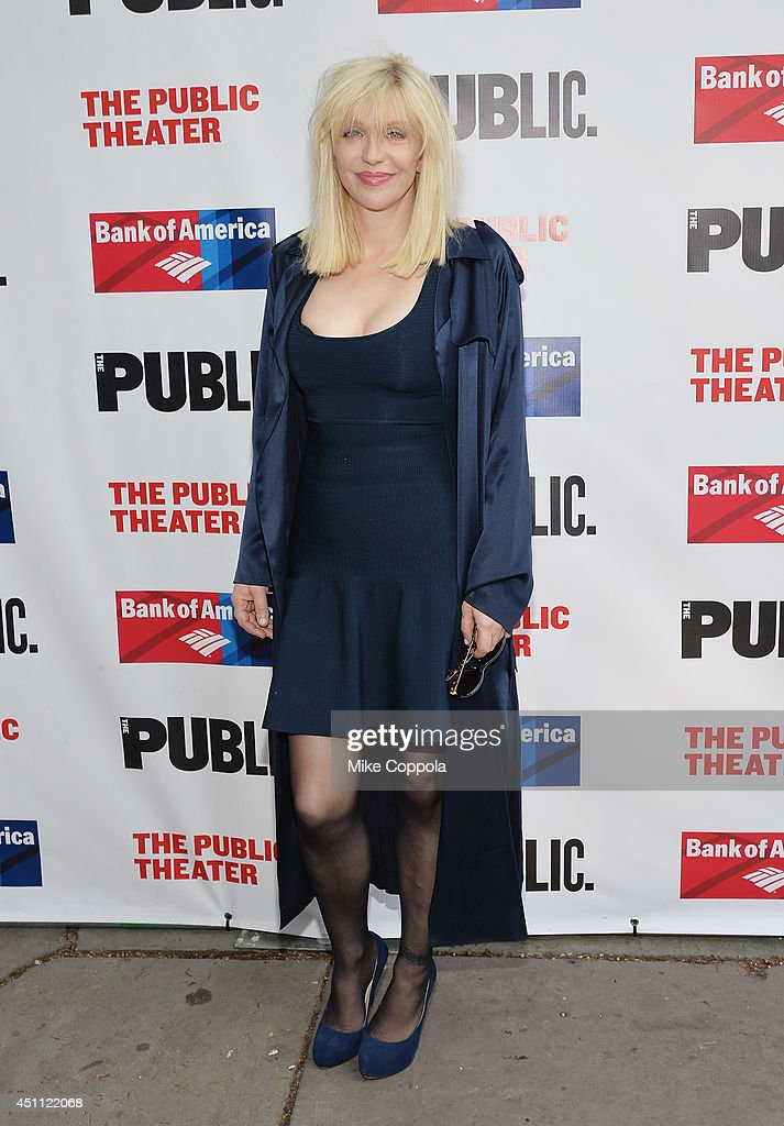 Musician/actress Courtney Love attends the Public Theater's 2014 Gala celebrating 'One Thrilling Combination' on June 23, 2014 in New York, United States.