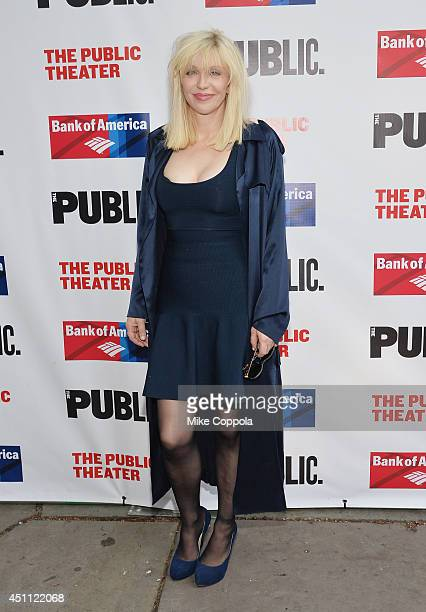 """Musician/actress Courtney Love attends the Public Theater's 2014 Gala celebrating """"One Thrilling Combination"""" on June 23, 2014 in New York, United..."""