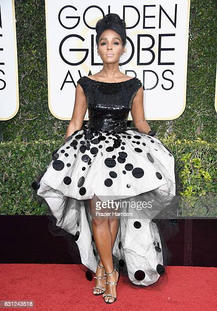 Musician/Actress Janelle Monae attends the 74th Annual Golden Globe Awards at The Beverly Hilton Hotel on January 8, 2017 in Beverly Hills,...