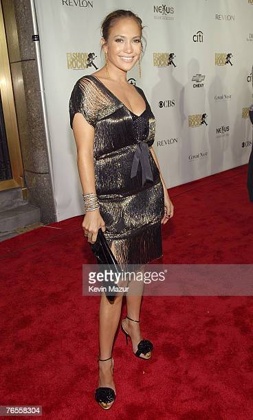 Musician/Actress Jennifer Lopez arrives at Conde Nast Media Group's 4th Annual Fashion Rocks at Radio City on September 6 2007 in New York City