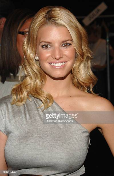 Musician/actress Jessica Simpson at Michael Kors Spring 2008 during Mercedes-Benz Fashion Week at the Tent, Bryant Park on September 9, 2007 in New...