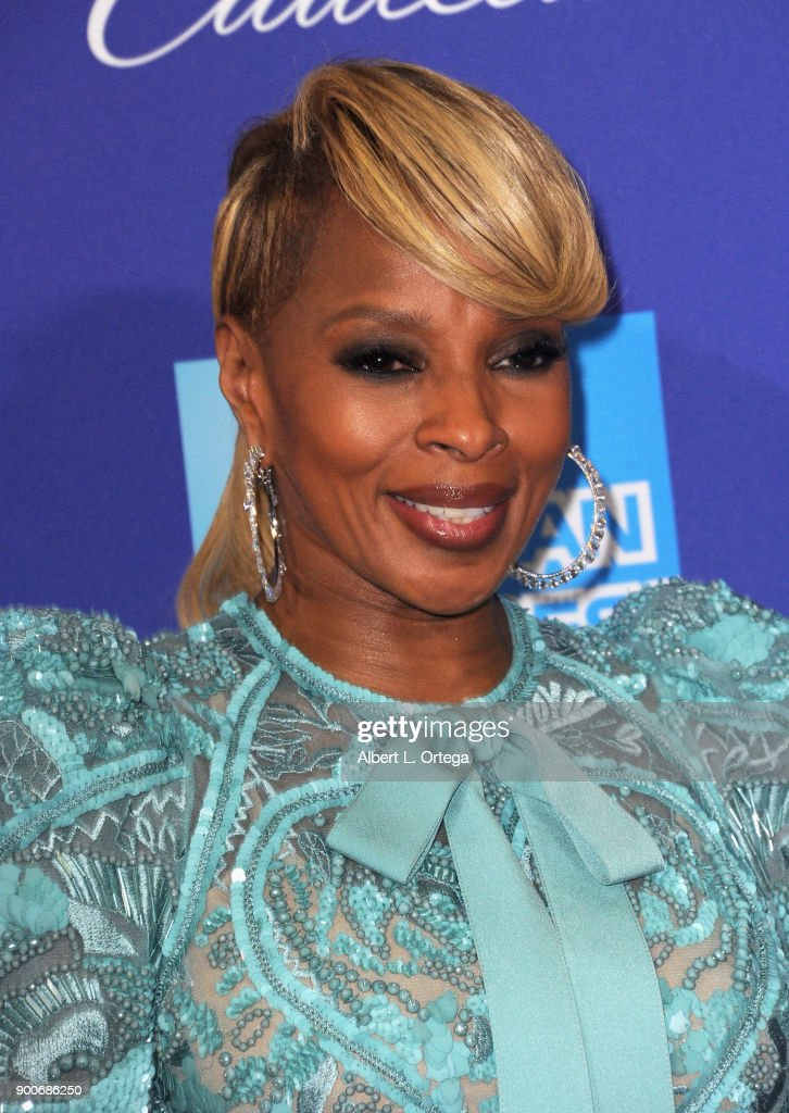 Musician/actress Mary J. Blige arrives for the 29th Annual Palm Springs International Film Festival Film Awards Gala held at Palm Springs Convention Center on January 2, 2018 in Palm Springs, California.