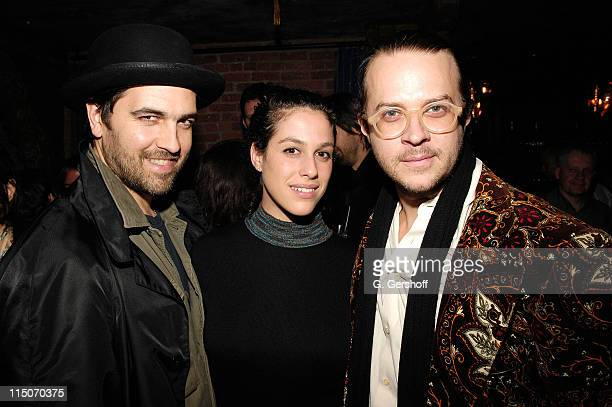 Musician/artist Adam Dugas photographer Abby Drucker and musician/artist Casey Spooner attend the Stephen Petronio 24th Annual Dance Benefit after...