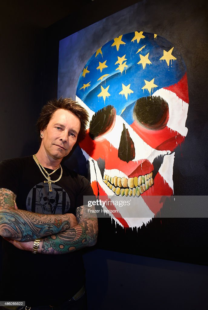 Musician/artist Billy Morrison attends an VIP Opening Reception For 'Dis-Ease' An Evening Of Fine Art With Billy Morrison at Mouche Gallery on September 2, 2015 in Beverly Hills, California.