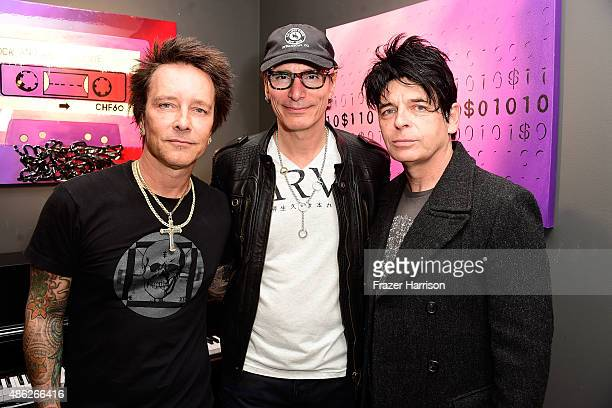 Musician/artist Billy Morrison musicians Steve Vai and Gary Numan attend an VIP Opening Reception For 'DisEase' An Evening Of Fine Art With Billy...