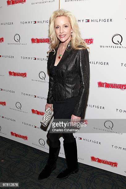 "Musician/artist Cherie Currie attends ""The Runaways"" New York premiere at Landmark Sunshine Cinema on March 17, 2010 in New York City."