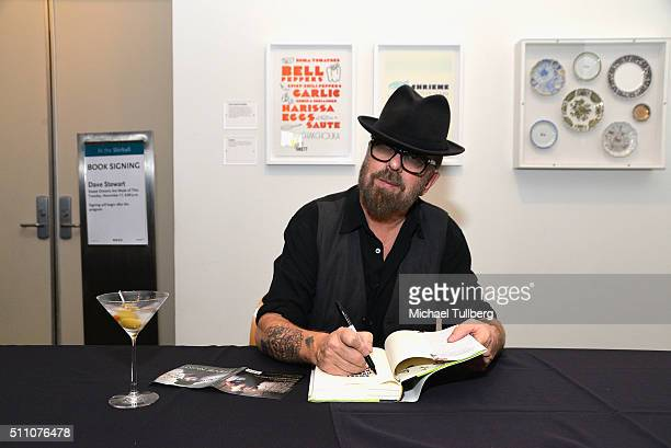 Musician/author Dave Stewart signs a copy of his new book Sweet Dreams Are Made Of These A Life In Music followiing a conversation with KCRW's Gary...