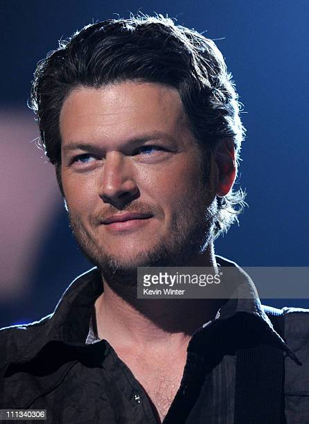 Musician/CoHost Blake Shelton performs during rehearsals for the 46th Annual Academy Of Country Music Awards on March 31 2011 in Las Vegas Nevada