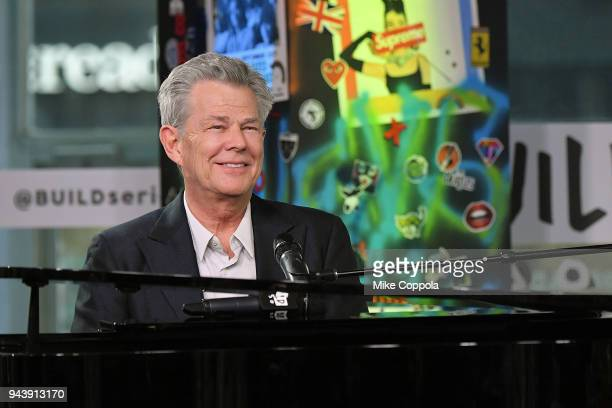 Musician/composer, David Foster visits Build Studio on April 9, 2018 in New York City.