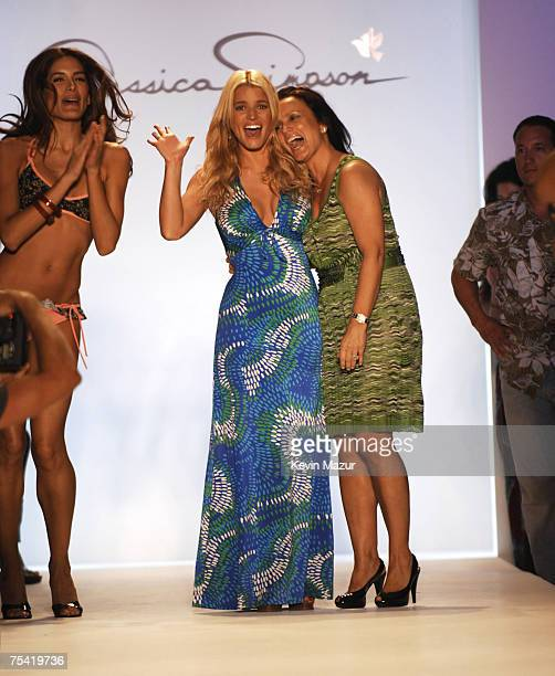 Musician/Designer Jessica Simpson after her swimwear fashion show during 'Mercedes Benz Fashion Week Miami Swim' at the Raleigh Hotel on July 14 2007...