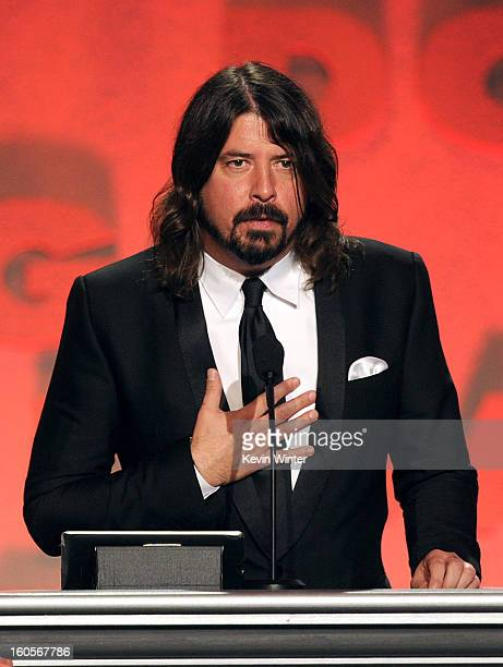 Musiciandirector Dave Grohl speaks onstage during the 65th Annual Directors Guild Of America Awards at Ray Dolby Ballroom at Hollywood Highland on...
