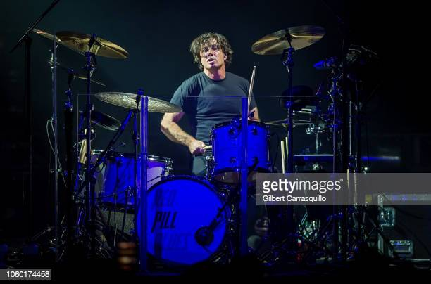 Musician/drummer Matt Flynn of Maroon 5 performs during Philly Fights Cancer Round 4 at The Philadelphia Navy Yard on November 10 2018 in...
