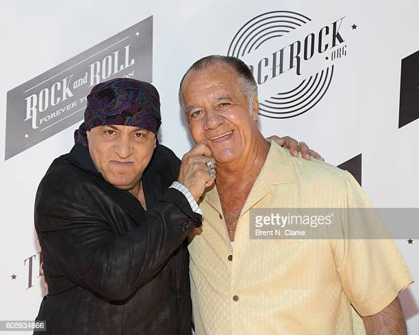 Musician/founder of the Rock and Roll Forever Foundation Steven Van Zandt and actor Tony Sirico attend 'The Beatles Eight Days a Week The Touring...