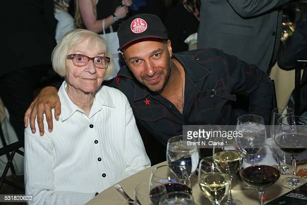 Musician/Harry Chapin Humanitarian Award recipient Tom Morello poses for photographs with his mother Mary Morello during the WhyHunger Chapin Awards...