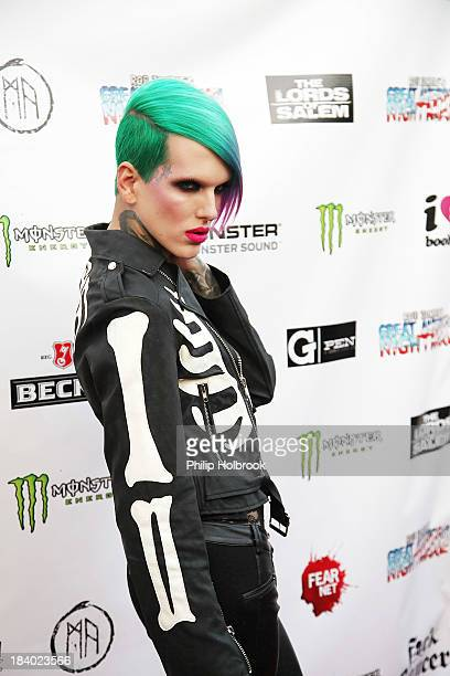 Musician/Model Jeffree Star arrives at the VIP opening night party at Rob Zombie's Great American Nightmare held at the Fairplex on October 10 2013...