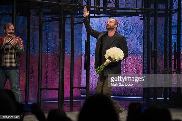 Musician/Playwright Sting attends the curtain call of The Last Ship at the Neil Simon Theatre on December 9 2014 in New York City