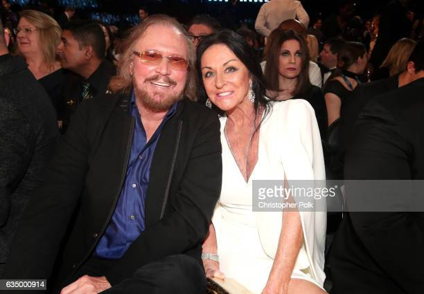 Musician/Producer Barry Gibb and Linda Gray Gibb during The 59th GRAMMY Awards at STAPLES Center on February 12 2017 in Los Angeles California