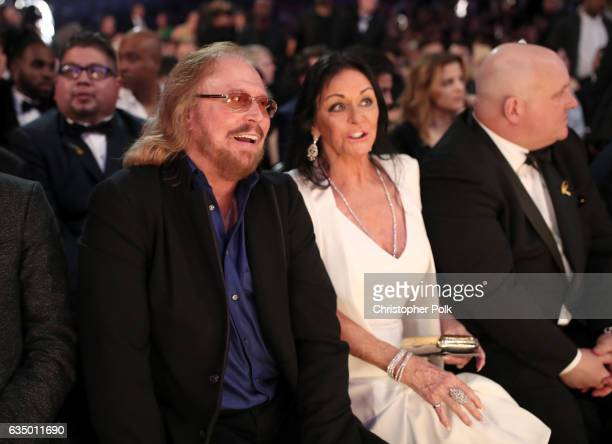 Musician/Producer Barry Gibb and wife Linda Gray Gibb during The 59th GRAMMY Awards at STAPLES Center on February 12 2017 in Los Angeles California