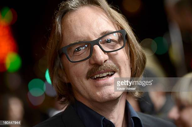 Musician/producer Butch Vig arrives at the premiere of Sound City at ArcLight Cinemas Cinerama Dome on January 31 2013 in Hollywood California