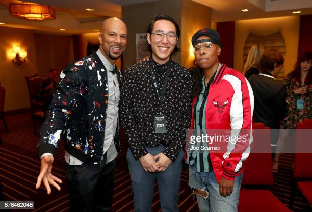 Musician/producer Common journalist E Alex Jung and writer/producer Lena Waithe attend the 'Chi' event during Vulture Festival LA presented by ATT at...
