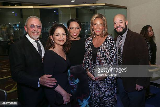 Musician/producer Emilio Estefan singer Gloria Estefan actress/ambassador for Gabrielle's Angel Foundation Selenis Leyva president/cofounder of...