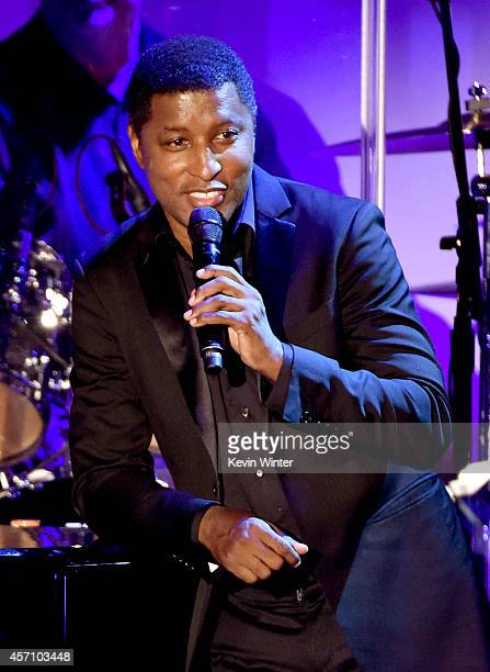 Musician/producer Kenny Babyface Edmonds performs at the Carousel of Hope Ball presented by MercedesBenz at the Beverly Hilton Hotel on October 11...